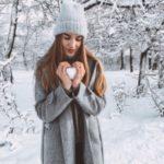 عکس پروفایل دخترانه با قلب برفی