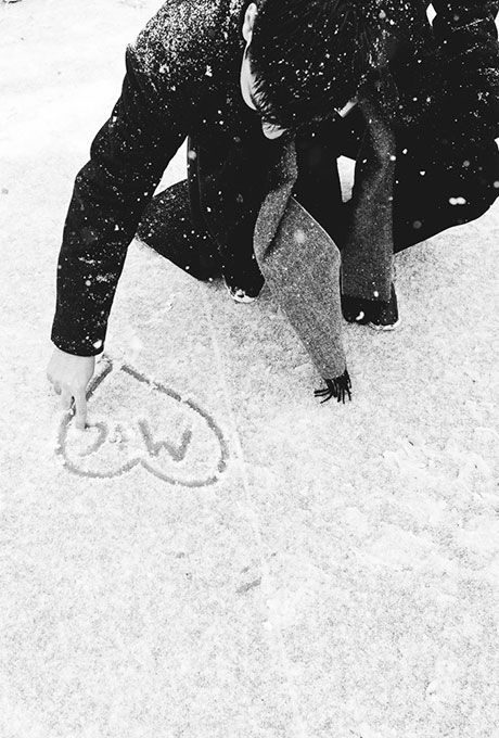 عکس قلب عاشقانه روی برف