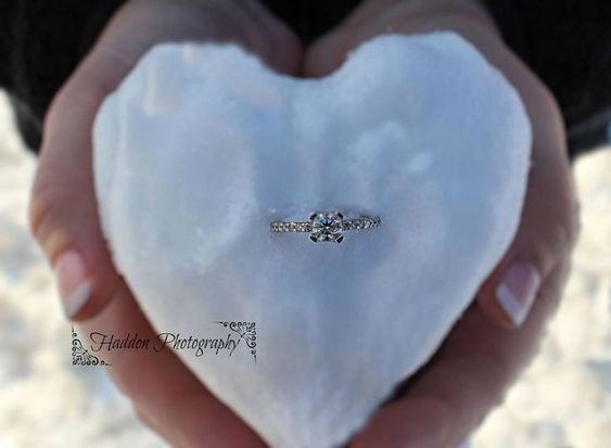 نمونه قلب برفی عاشقانه