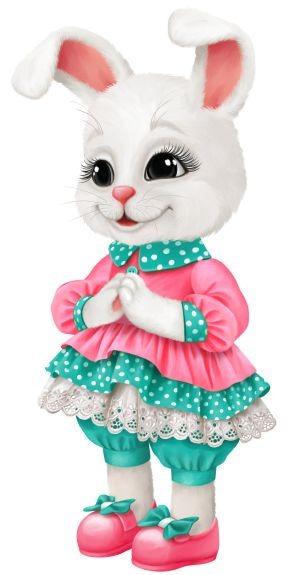عکس کارتونی خرگوش سفید و بامزه