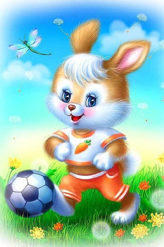 عکس خرگوش کارتونی ورزشکار