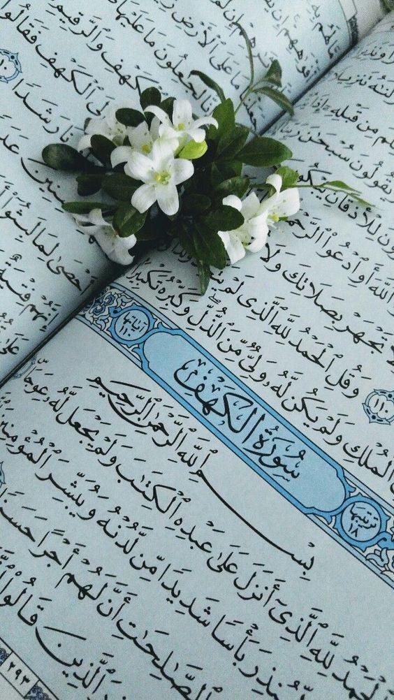 استوری و عکس قرآن و گل