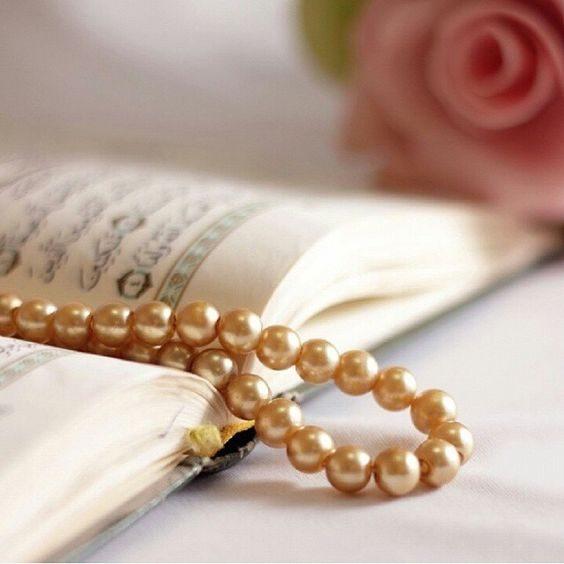 عکس قرآن و گل و تسبیح