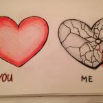 عکس قلب شکسته نقاشی من و تو