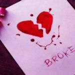 عکس قلب شکسته نقاشی