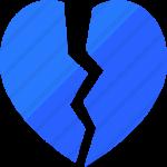 عکس قلب شکسته آبی