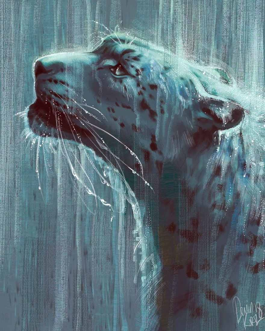 نقاشی فانتزی حرفه ای حیوانات