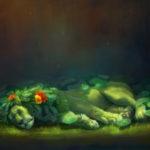 نقاشی فانتزی هنرمندانه از شیر