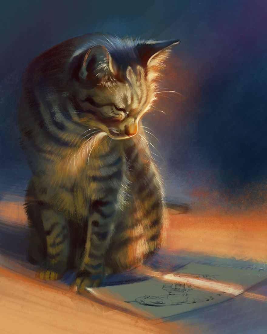 نقاشی فانتزی حیوانات