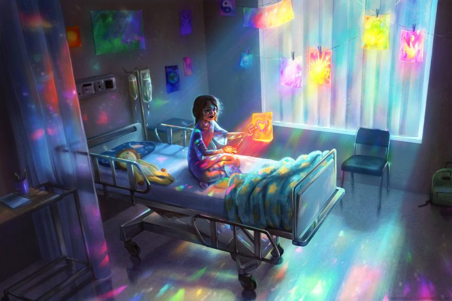 نقاشی فانتزی کودکانه