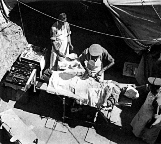 تصیویری از بیمارستان صحرایی در جنگ جهانی اول