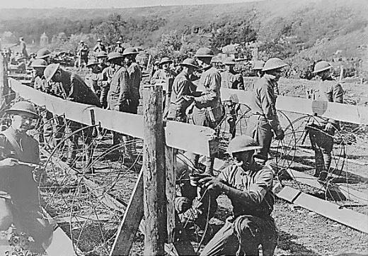 تصویری از مهندسان در جنگ جهانی اول