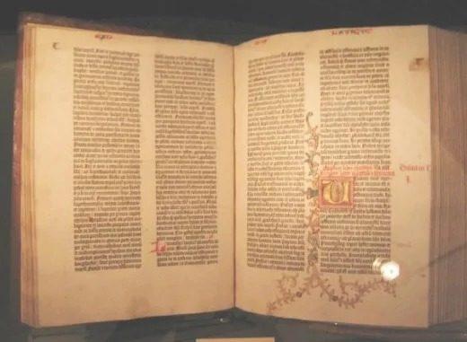 کتاب مقدس گوتنبرگ: اولین کتاب مقدس که برای توده ها چاپ شده است