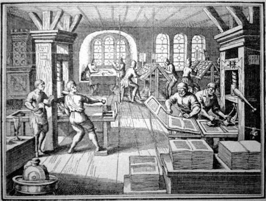 تصویری از طراحی دستگاه چاپ اختراع شده توسط گوتنبرگ