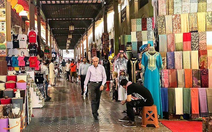 بهترین مکان های دیدنی دبی: بازار روباز سوق دبی
