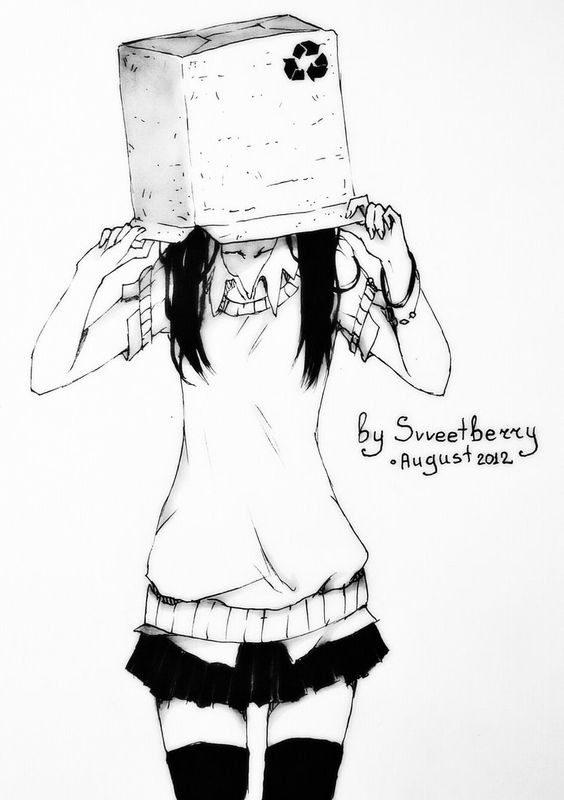 عکس نقاشی دخترونه فانتزی سیاه و سفید