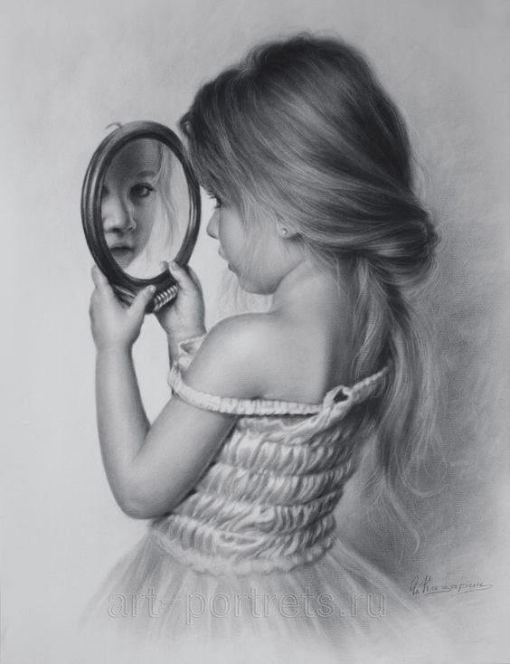نقاشی دخترونه فانتزی سیاه و سفید
