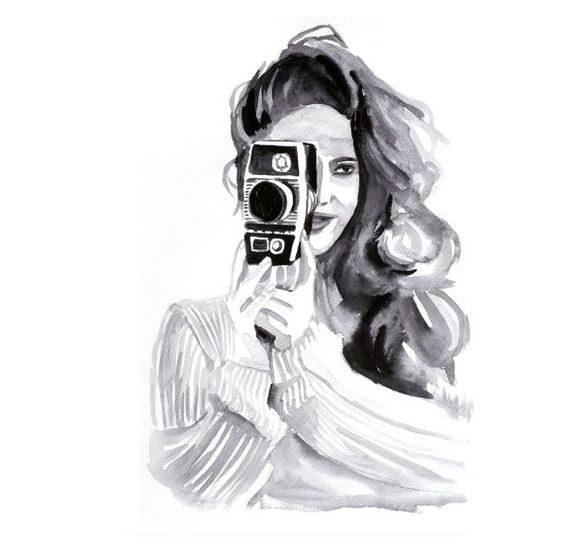 مدل نقاشی سیاه و سفید فانتزی دخترونه