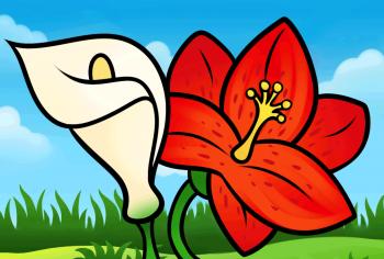 آموزش نقاشی گل شیپوری کودکانه ساده