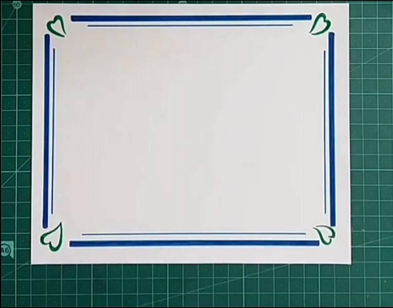 آموزش نقاشی حاشیه دفتر به زبان ساده