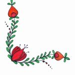 عکس نقاشی گل برای حاشیه دفتر کودکان