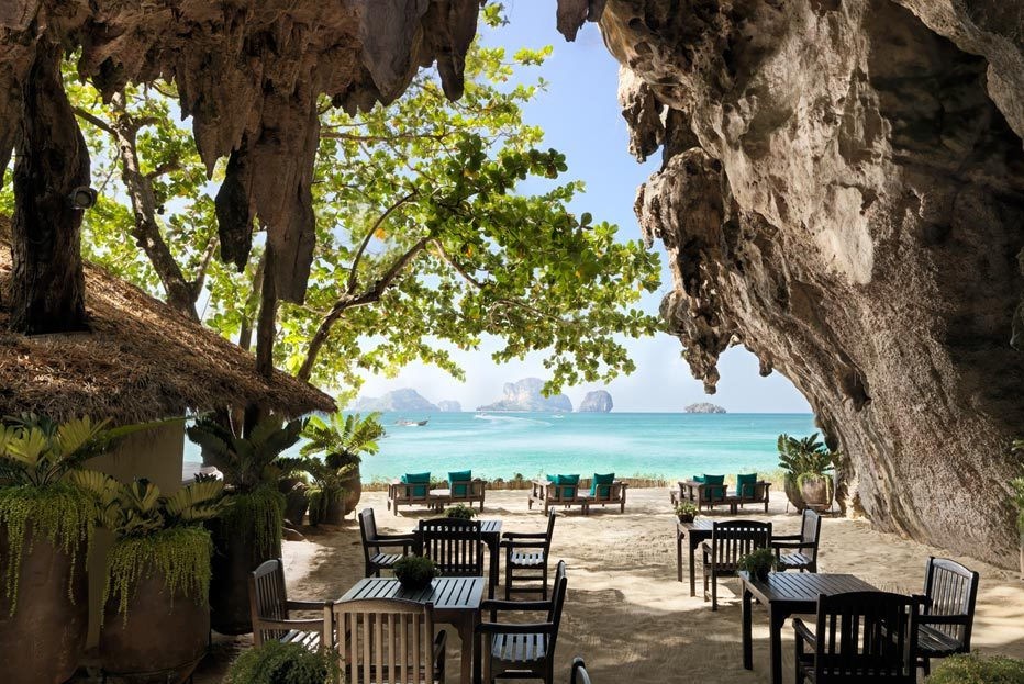 رستوران گروتو در کرابی تایلند (The Grotto – Krabi, Thailand)