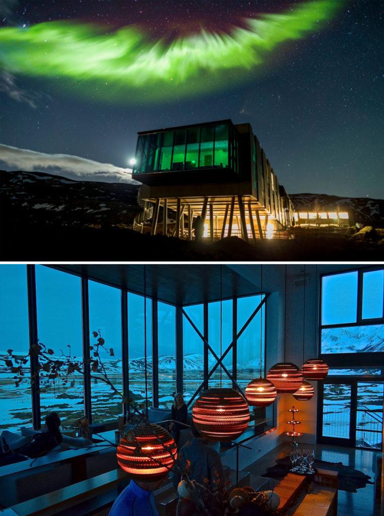 رستوران یون در ایسلند (Northern Lights Bar)
