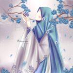 عکس دختر چادری فانتزی با گل برای پروفایل