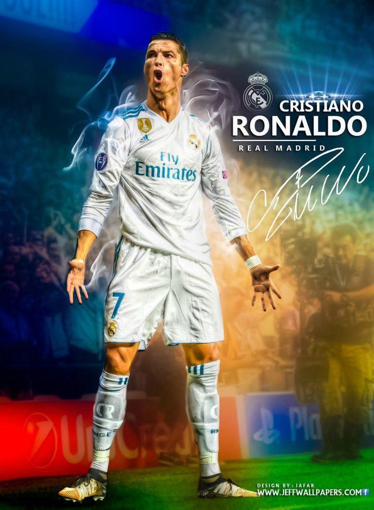والپیپر کریس رونالدو در رئال مادرید برای موبایل