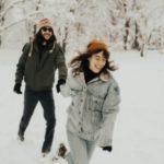 ژست عکس دونفره در برف
