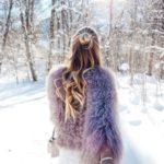 ژست عکس در برف خاص