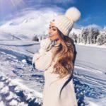 ژست عکس در برف برای دخترها