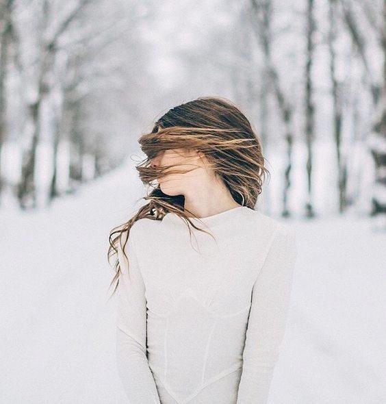 ژست عکس با برف
