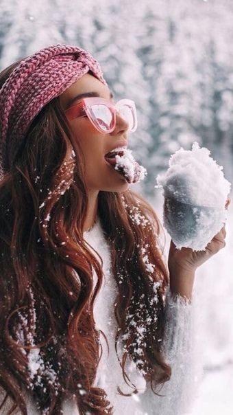 ژست عکس گرفتن در برف