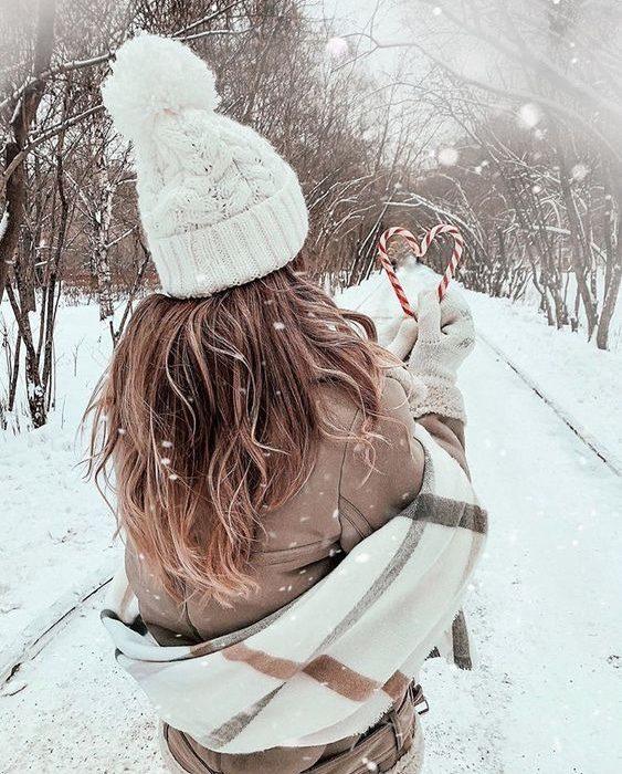 ژست عکس روز برفی