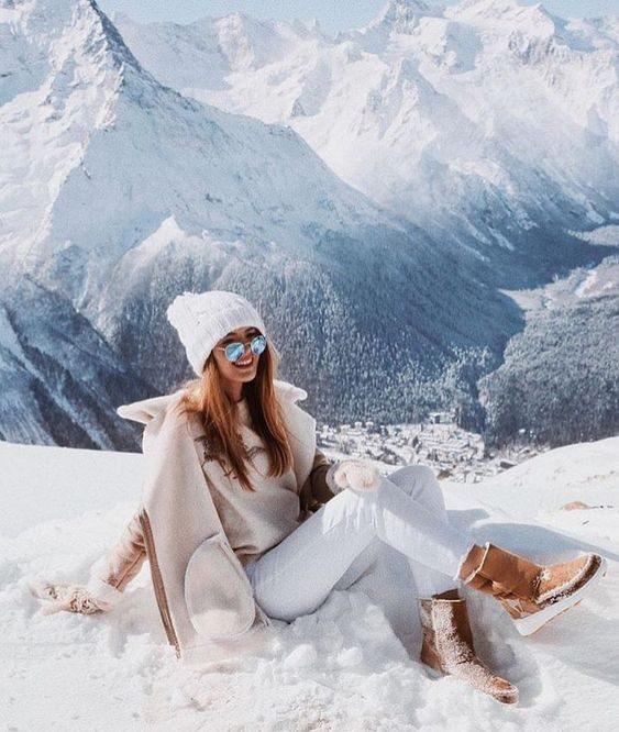 ژست عکس در برف دخترانه