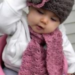 مدل شال و کلاه بافتنی نوزاد دختر