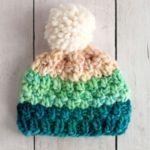 مدل کلاه بافتنی ساده بچه گانه