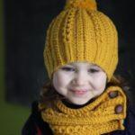 مدل شال و کلاه بافتنی بچه گانه دختر