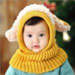 مدل شال و کلاه بافتنی نوزادی