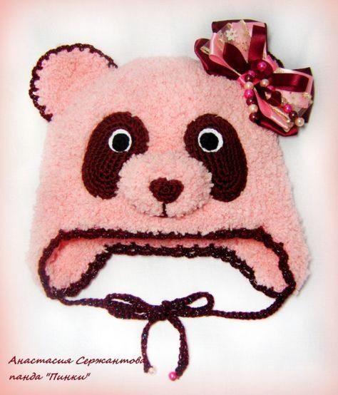 مدل کلاه شال گردن بافتنی بچه گانه شکل خرس