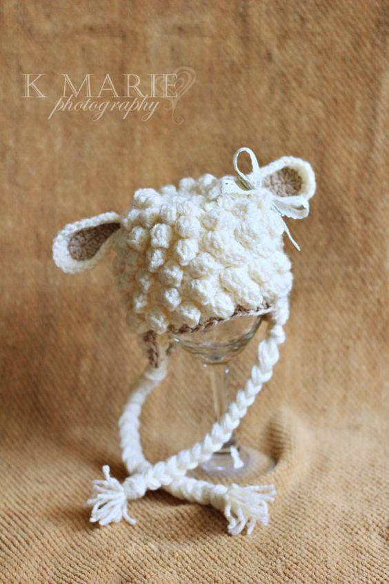 مدل کلاه بافتنی گوسفند
