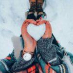 قلب برفی زیبا برای عکس برف عاشقانه برای پروفایل