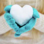عکس قلب برفی زیبا برای پروفایل زمستانی
