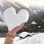 قلب برفی عاشقانه برای پروفایل
