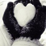 قلب برفی زیبا برای عکس برف عاشقانه قلب برای پروفایل