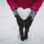 عکس برف عاشقانه برای استوری