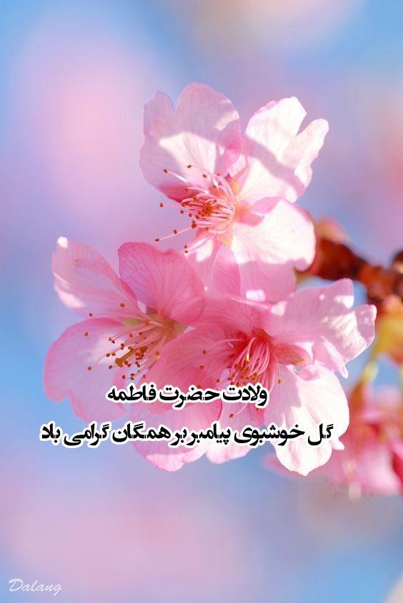 عکس نوشته تبریک میلاد حضرت فاطمه