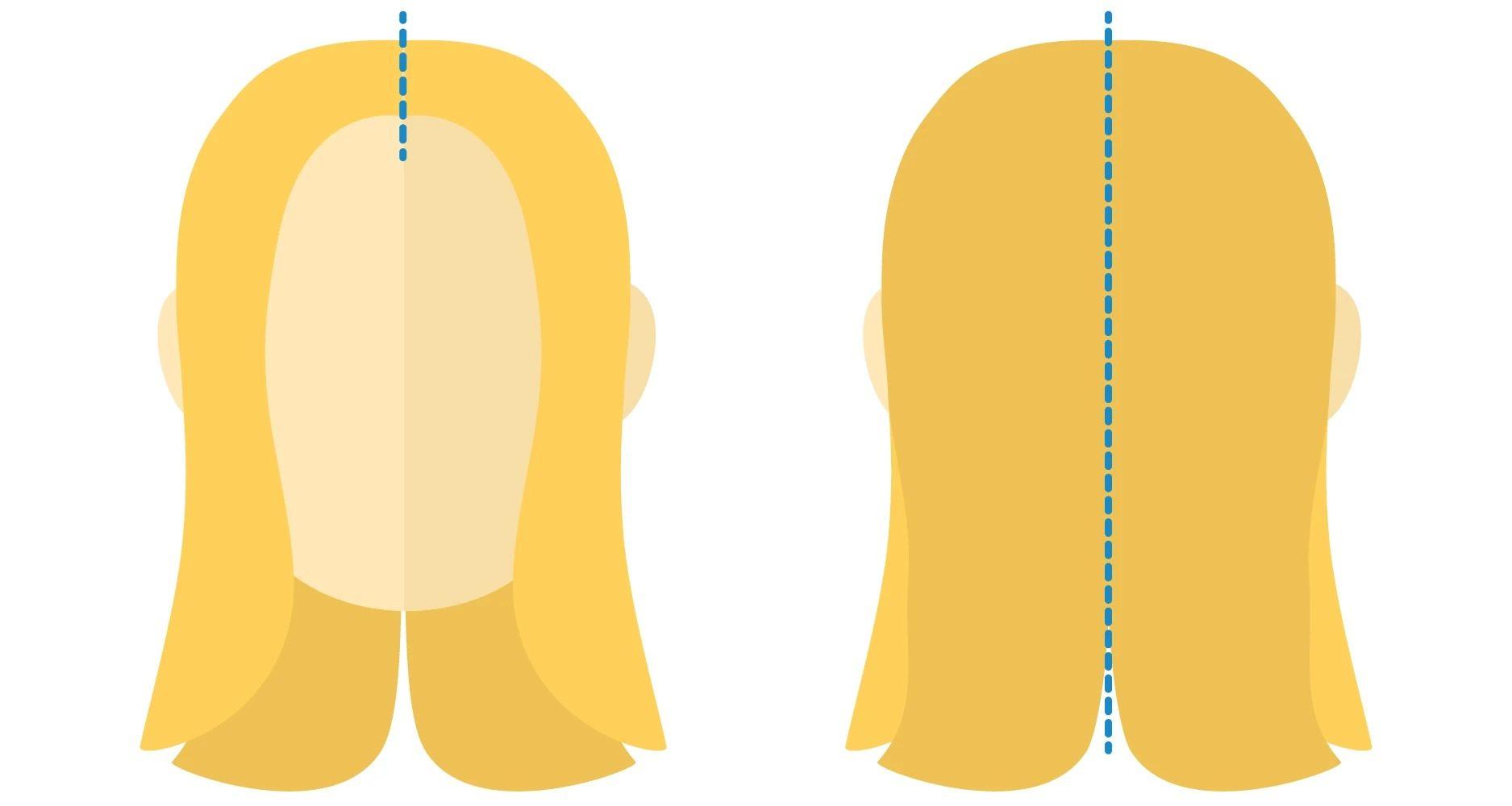 طریقه تقسیم بندی مو برای رنگ