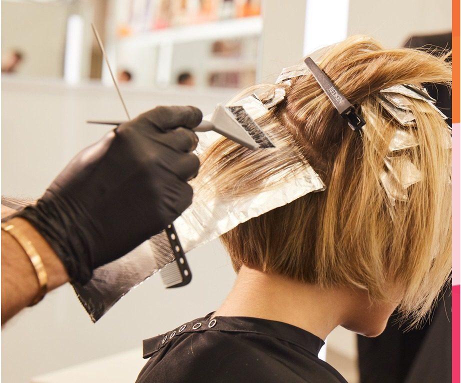 آموزش نحوه تقسيم بندی مو براي رنگ كردن
